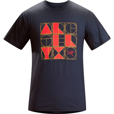 Throw on the Arc'teryx Word Album Short-Sleeve T-Shirt when you want a chill, laid-back feel that is great for weekend trips to the reservoir or after-work hangouts with your buddies. - $38.95