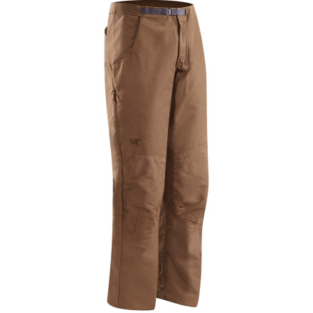 Camp and Hike The Arc'teryx Men's Aristo Pant bring aggressive articulation and adventure-ready fabric to streetwear style. These pants have a laid-back look that will help you rock a school day or even a day at the office, but don't let the casual look fool you. These hardy pants can handle a day of bouldering or a lunchtime escape at the climbing gym. - $138.95