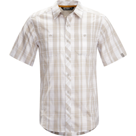 Camp and Hike When you get back to camp after a day of hiking, break out your grill and your Arc'teryx Borderline Short-Sleeve Shirt at the same time. Trust us: if you're dispensing barbecue and rocking a stylishly rugged shirt while doing it, you'll be the hero of tent city. - $78.95