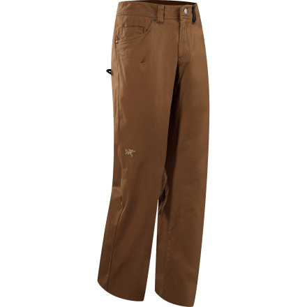 Climbing The Arc'teryx Men's Spotter Pant is a functional hybrid of the classic canvas work pant and a durable pair of climbing duds. With double-stitched seams, articulated knees, and a gusseted crotch, the Spotter works for everything from working on the cabin to wrestling a granite boulder. - $98.95