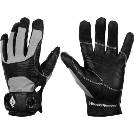 Climbing Whether you're jugging hundreds of feet on a Yosemite big wall or giving a belay at the local sport crag, protect your hand with the Black Diamond Transition Climbing Glove. Goat leather on the palm and knuckles gives you a sure grip on the rope while the woven nylon stretches to provide sensitive dexterity. - $39.95