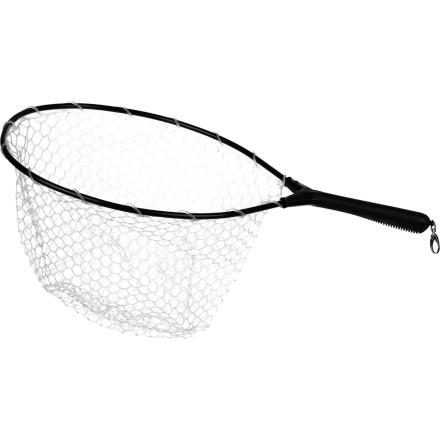 Camp and Hike When a fly becomes tangled and snagged in a net it's not only frustrating, it's time consuming. With the economically priced Brodin San Juan Trout Bum Net, you'll get the snag-free performance of a thermoplastic ghost net and ample hoop space for landing fish up to 26 inches in length. - $48.95