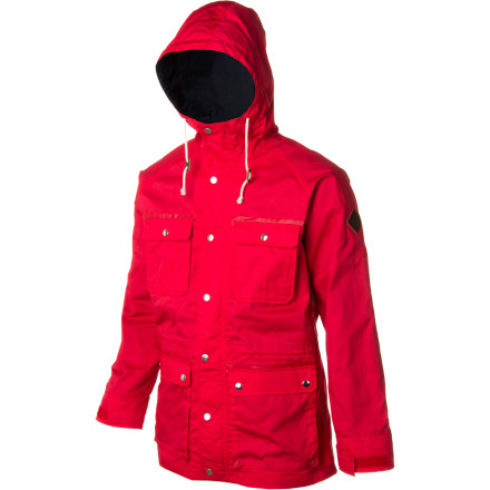Snowboard Want to rock some military style without having to exercise or respect authority' The Burton Greenville Jacket sports a waxed cotton outer fabric for throwback style and protection from the elements. - $114.95