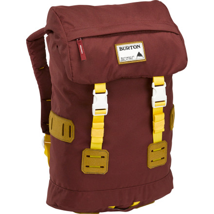 Camp and Hike Part of Burton's past-meets-future Heritage collection, the Tinder Laptop Backpack combines classic rucksack styling with the modern features you need to survive the urban landscape. - $59.95
