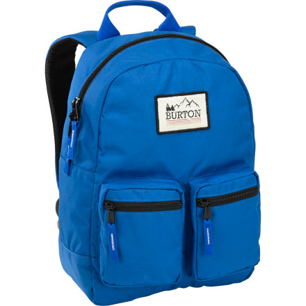 Camp and Hike Send him back to school in style with the Burton Gromlet Kids' Backpack. It may not exactly make him happy about starting a new year, but it will at least make the transition a little easier. A spacious main compartment ensures he has plenty of room for all his textbooks and folders, and two zippered front pockets keep his snacks and supplies organized. - $24.95