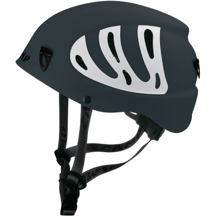Climbing Whether you're clipping bolts in Utah's cobble-strewn Maple canyon or navigating a chossy alpine ridge, protect your skull with the UI-certified CAMP Armour Helmet. The rotating size wheel allows you to quickly adjust the helmet for a perfect fit while multiple vents and a padded chin strap ensure all-day comfort. - $59.90
