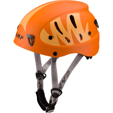 Climbing If your kid is bored with the jungle gym and is itching to climb on the real stuff, make sure he or she straps on the Camp Armour Junior Helmet before facing a sheer cliff face. The lightweight ABS shell provides solid impact protection, and the rotating adjustment wheel allows you to quickly size the helmet for a snug fit. - $59.90