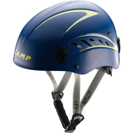 Climbing The CAMP Stunt Helmet features the same hybrid construction as the popular Armour helmets but is sized a bit bigger to accommodate larger head sizes. The rotating wheel allows you to quickly adjust the helmet for a snug fit, and multiple air vents keep you comfy on warm days. - $59.90