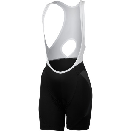 Fitness The bib shorts market has no shortage of high-dollar offerings packed with amazing features to satisfy the speed-seeking customer. However, even the competitive rider can find tremendous value in a pair of bib shorts that provide day-to-day versatility with everyday comfort and convenience. The Castelli Palmares Due Women's Bib Shorts are a suitable option for the rider who wants a 'daily-driver' pair of bib shorts with long-lasting security, excellent moisture management, and soft-to-the-touch fabrics. These bib shorts are constructed with Castelli's high stretch and exceptionally breathable Softflex RS fabric in order to combine a luxurious cotton-like softness with lightly compressive support . If your compressive knowledge is a little rusty, this support basically reduces fatigue by dissipating the amount of road vibration that's transmitted into your legs. You'll find that the benefits are most pronounced on long rides and over multi-day tours. The cut is designed to be flattering without losing the support you'd expect from a pair of bib shorts. The bib straps are anatomically designed around a woman's body and are constructed in mesh in order to provide maximum breathability. A small window on the back of the uppers brings increased airflow to the small of the back, just underneath the area where your packed jersey pockets may otherwise reduce breathability. A strip of extra soft microfiber intervenes between the bibs and the main body of the shorts as to eliminate any sharp binding or pinching at your midsection. This also smooths out any unflattering undulations in the process. Microfiber, lay-flat leg cuffs with soft silicone grippers hold the bib shorts in place vertically in order to create a secure fit from shoulder to leg cuff. Castelli chose its women's-specific Kiss3 chamois for the Palmares Due. The Kiss3 has a soft microfiber surface with a bacteriostatic treatment that reduces irritation and abrasion. - $89.95