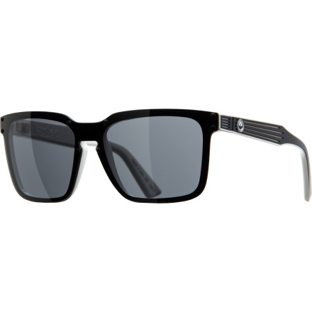 Camp and Hike The Dragon Mansfield Sunglasses put a futuristic take on a timeless shape with details like grooved temple arms and riveted lenses. - $139.95