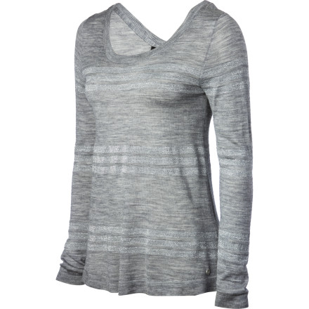 The EMU Women's Sarabah Pullover Sweater is an accommodating wardrobe piece, ready to cater to your moods. Feeling a little flirty' Wear it as a pullover with buttons down the back that just invite to be touched. Want to project a more serious air' Wear it as a button-front cardigan over a cami or clingy tee. But no matter how you look, the soft, breathable merino wool will have you feeling your best. - $128.95