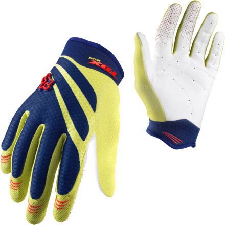 MTB Grab ahold of your rowdy mountain bike with the Fox Mens Airline Glove. An ergonomic fit and single-layer palm gives you the feed-back needed for nailing berms and scrubbing jumps, while a highly vented and perforated design keeps this full-finger glove summer-friendly. - $13.48