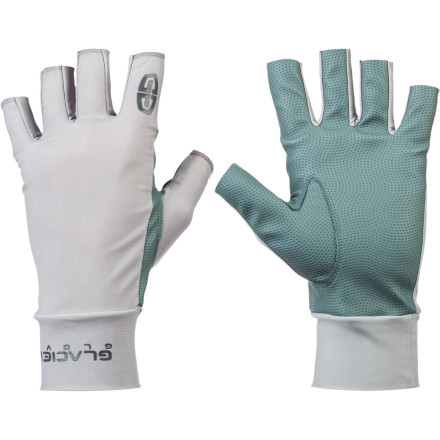 Camp and Hike Sun, wind, and water can wreak havoc on your hands; keep them protected with the Glacier Glove Ascension Bay Glove. The polyurethane palm material gives you a sure grip on wet paddles, sail lines, and rod handles while UPF 50+ rating guards against harmful sunburn. - $22.95