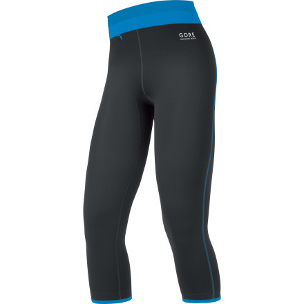 Fitness Hit the ground running in style in the Gore Running Wear Women's Sunlight 3.0 3/4 Tight. Made from stretchy, breathable, temperature-regulating microfiber, this cropped legging moves like a streamlined rocket through the streets or trails. A fitted silhouette and elastic waistband with flat drawcord provide a comfortable fit every day. And its mock-layered look and style galore might just inspire an outing when motivation wanes. - $68.95