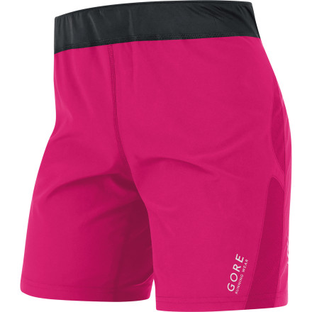 Fitness The coverage and comfort of a tight with the liberating fit of a short make a beautiful high-tech combo in the Gore Running Wear Women's Essential Short. Thin, light, and stretchy microfiber keeps you cool, dry, and comfortable with sweat-wicking, quick-drying, breathable powers; an elastic waistband with a brushed interior provides all-day comfort and fit. The inner tight and high-cut back adds comfortable coverage while stretching or bending for optimal versatility and performance. - $68.95