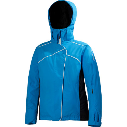 Ski You won't have to be a fair-weather skier when you have the The Helly Hansen Women's Sunflake Jacket to keep you warm through a storm. You're generating your own heat thanks to the WarmCore insulation throughout the body and sleeves, and the waterproof breathable HellyTech membrane keeps you dry through a storm; after it passes, - $70.49
