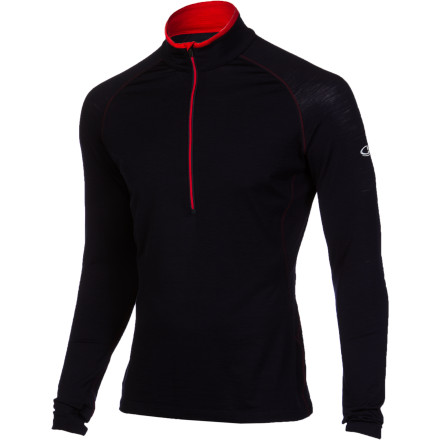 Fitness Icebreaker made the Men's Relay 1/2-Zip Top from smooth, naturally breathable merino wool so you can finally retire that stinky synthetic top you've been holding onto for years. This next-to-skin layering piece fits close to help you regulate body temperature and provide light warmth whether you're trail running in early spring or backpacking in late fall. - $89.95