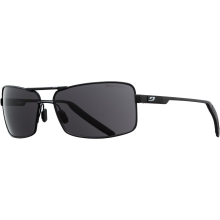Camp and Hike The Julbo Core Sunglasses deliver a rectangular take on classic aviator style. Soft-touch hydrophilic nose and temple pads ensure a slip-free fit without getting caught in your hair when removing your shades. - $99.95