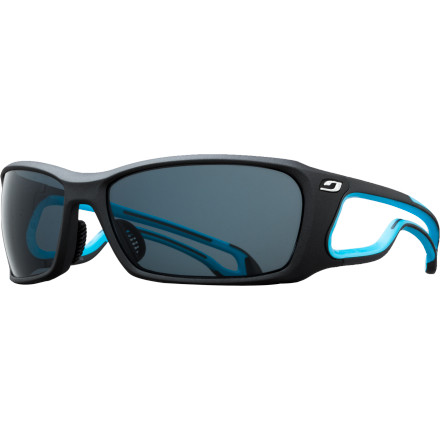 Camp and Hike Whether you're bombing downhill on a rough trail or boulder-hopping above treeline, the Julbo Pipeline L Sunglasses with Octopus Polarized and Photochromic Lenses are ready for action. The unique open frame with Twin Flex construction moves with you but also stays in place without putting your noggin in a headache-inducing vice grip. Figuratively speaking, the lenses are just as flexible'the Octopus technology means that they will adapt to changing light conditions so you can see the trail ahead perfectly no matter the weather or your surroundings. - $189.95