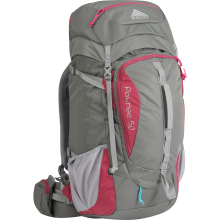 Camp and Hike Your coworkers will handle things when you leave early on Friday and return late on Monday, won't they' When you get the Kelty Women's Pawnee 50 Backpack, they may have to. This capacious, organized, and easily accessible pack lives for long weekends and features all the stabilizing, ventilated, and padded comfort to keep you happy the whole time. Don't worry: if your workplace falls apart, they'll just appreciate you more. - $169.95
