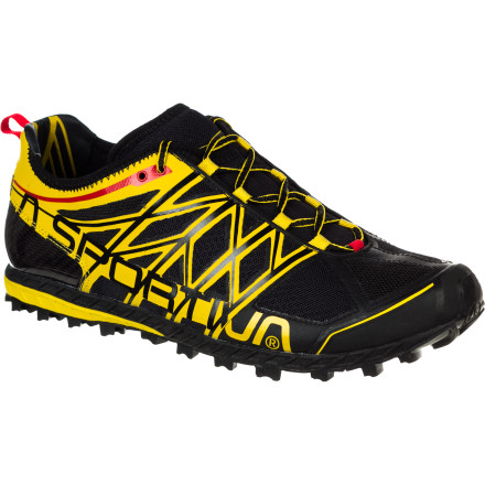 Fitness For the mud-loving trail runner on the hunt for a minimalist shoe, the low-profile La Sportiva Men's Anakonda Trail Running shoe is a dream come true. This shoe is low to the ground, lightweight, and packs tons of traction. The AirMesh upper is breathable, it drains away water quickly, and a TPU overlay provides ample lateral support. Stable and neutral for efficient runners, this shoe omits thick cushioning in favor of its Impact Brake System, which features opposing, slanted lugs that deform to absorb shock and provide grip on steep terrain, going up or down.La Sportiva makes two other minimalist-style trail running shoes: the Vertical K and the Helios. Both shoes are lighter and offer more cushioning, but neither can hold a candle to the traction or control offered by the Anakonda. Something like a burly track flat, this shoes leaves little between your foot and the ground, but it doesn't punish you for it. A dedicated trail runner can easily tackle short or middle distances runs wearing this shoe, whether the terrain calls for rolling, loamy single track or steep trails in deep in a wet forest. - $106.21