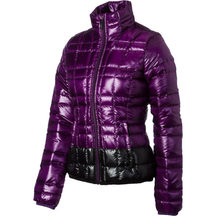 Don't curl up on the couch covered with your duvet when the temps drop this winter. Zip up your Lole Women's Chilly Down Jacket and join the fun. With 800-fill Downglow insulation, you'll have the lightweight, efficient warmth of yummy down in the form of a quilted flattering silhouette, replete with a fashionable and functional stand-up collar. Pack this luscious coziness into its own pocket for the ultimate in portable warmth. - $131.97