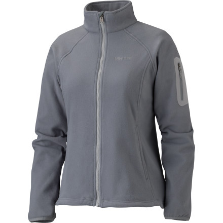 Ski Whether you've come down with a severe bout of spring skiing or you're just browsing the ski town window-shopping scene, zip up the Marmot Women's Haven Fleece Jacket. Comfortable, stylish, and functional, this cool-weather piece is Zippin Compatible and feature's Angel-Wing Movement for full range of motion when you decide to hit the slopes. Dedicated hand pockets and a zippered sleeve pocket stash your phone, a snack, or the various numbers given to you by interested mountain boys at the tavern. - $44.98