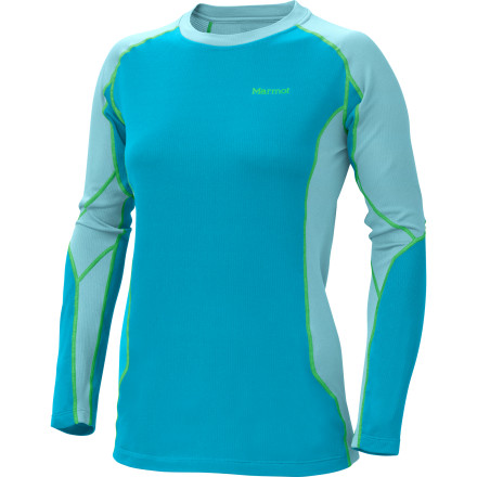 Fitness Your on-mountain comfort begins early in the morning when you slip on the Marmot Women's Midweight Crew. This midweight baselayer warms your core on the chairlift rides and handles excess heat and moisture when you really get going on the slopes. - $38.46