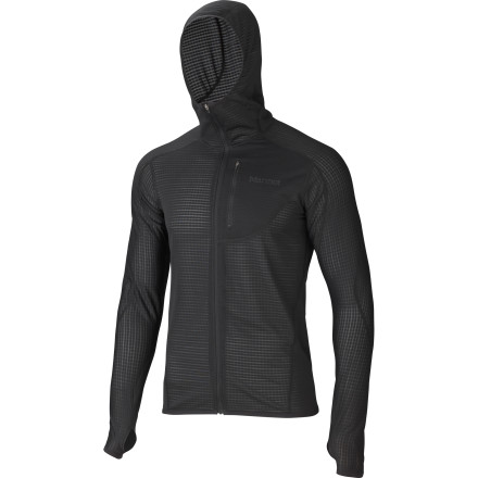 Venture out into the cold while wearing the Marmot Men's Thermo Fleece Hooded Top underneath your outwear and you'll suddenly find a new level of warmth, comfort, and mobility. Work up a sweat, and the stretchy Power Dry fabric will allow that chilling moisture to move away from your skin so you stay dry, and in turn, warm. Small bits of fit-and-finish like flatlock seams and a close-fitting hood make all the difference in the world whether you're wearing this top alone in mild weather, or using it as a layer when the nastiness of winter strikes. - $134.95