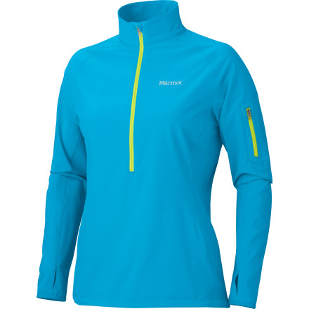 Fitness Whether you're layering up for an epic powder day or simply jogging trails before work, slip into the Marmot Women's Stretch Light 1/2-Zip Pullover. The Marmot M3 softshell fabric is the most breathable in the Marmot line-up, making it the perfect choice for sweat-inducing pursuits. Even better, the generous four-way fabric stretch and flattering athletic fit allow you to move freely and look good in the process. - $94.95