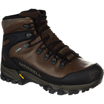 Camp and Hike Pack your things: your weather-defying, terrain-taming Merrell Men's Mattertal Gore-Tex Backpacking Boot is taking you on a trip. Its sticky Vibram sole will keep you upright and roaring through the wilderness, while its waterproof, breathable lining keeps your foot optimally comfy. This stiff, stable backpacker will support your medium-sized pack, so you'll be aptly equipped for an overnighter or a hut-to-hut trip. - $199.95