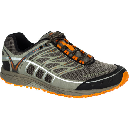 Fitness You eat dirt for breakfast and follow it with mud pie and rocky road; lace up the Merrell Men's Mix Master Tuff Trail Running Shoe to really sink your teeth into the trail. Offering burly protection from the trail and comfortable cushioning, but with a minimalist-feeling 4mm heel-to-forefoot drop, this versatile trail runner delivers a little bit of everything. You're in control with the sensitive, lightweight Float midsole and a sticky rubber sole with 3.5-millimeter lugs that chews up the slick, wet terrain and spits it out in victory. - $119.95