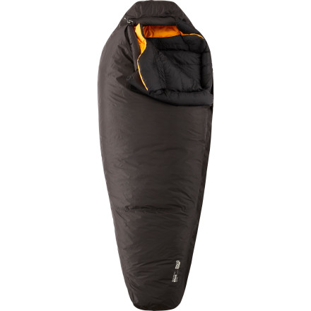Camp and Hike Wet weather means disaster for traditional down insulation'but for the water-repellent down insulation inside the Mountain Hardwear Ghost Sleeping bag, a cold, wet storm is just another walk in the park. Built for expeditions and elite winter camping, this sleeping bag protects its unique insulation with a waterproof and breathable shell. A laminated, double external zipper flap further protects against moisture and a six-chamber insulated hood retains vital body heat at your head. Throw the worst weather and most nightmarish conditions at the Ghost and it'll treat you to a dreamy night of uninterrupted slumber. - $999.95
