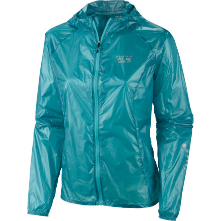 Fitness The Mountain Hardwear Women's Ghost Whisper Hooded Jacket feels like baby's breath on your skin but fends off wind and moisture like an angry momma. Made from durable but smooth Whisperer ripstop, this hoodie was born for adventure. Pack it nice and small in its own pocket for portable protection anywhere you roam. - $164.95