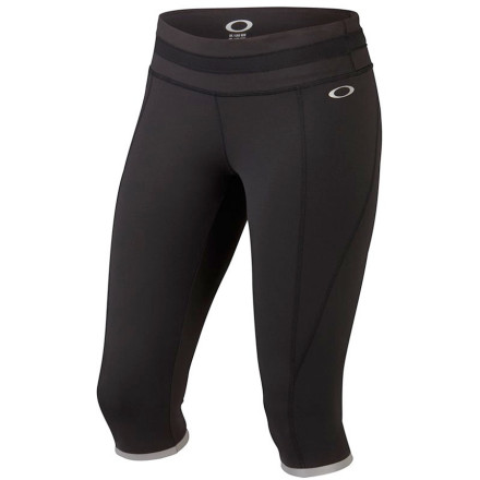 Fitness Some of us have jobs and have to fit in our runs in the wee hours, which is why Oakley created the Women's Night Run Capri. Reflective trim and logos stand out in the gloom as you power through your daily three miles in this stretchy performance knicker. - $72.00