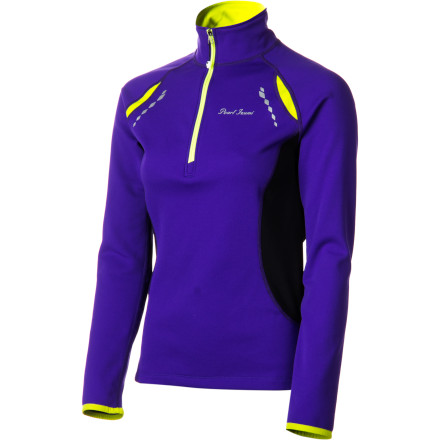 Fitness The lightweight Pearl Izumi Aurora Thermal Top sets a whole new standard in versatility for cycling apparel. Ideal for use as a stand-alone jersey, a mid-layer, or an outer layer, the Aurora is a true three-season top. Pearl's Select Thermal fabric makes the shivers from freezing wind gusts a thing of the past. This is due in part to its quick-drying abilities. The Select material manages moisture while retaining precious body heatan important characteristic when early-season training rides are accompanied by chilly temps. You'll also notice the 10-inch front zipper, which not only makes it easier to get in and out of the Aurora, but allows you to dump heat in a hurry. Just when you think that long, tedious climb has you beaten, unzip the front of the Aurora a bit and feel the cooling breezes bring you back to life. The Aurora top can be used off the bike, as well. A single zippered back pocket takes care of your valuables whether you're cranking a century or window-shopping on Main Street. The Pearl Izumi Womens Aurora Thermal Top comes with reflective elements for better visibility in low-level lighting. It is available in four highly visible color choices: Dahlia Purple, Peacock, Pink Punch, or True Red. It comes in sizes X-Small through X-Large. - $55.97