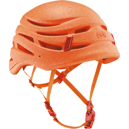 Climbing Whether you're tackling heady trad routes or you have aspirations in the big mountains, climbing with a helmet isn't just a good idea, it's a necessity. With the ultralight Petzl Sirocco Helmet, you get the required head protection at under 6 ounces, less than the weight of two quickdraws. The adjustment system gives you a perfect fit and the patented magnetic buckle allows you to secure the chin strap with one hand. - $110.00