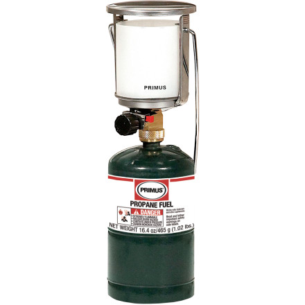 Camp and Hike Illuminate your campsite with the classic Primus Tor Sr. Propane Lantern with a Piezo Ignition & Stable Base Adapter. The light produced is equivalent to a 200-watt bulb, and the built-in piezo ignition makes the lantern easy to get started. - $44.00