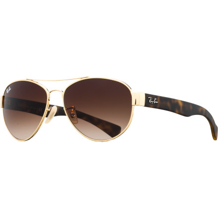 Camp and Hike What happens when you combine timeless aviator style with the iconic temples of Ray-Ban Wayfarers' The answer is the all-new RB3491, with its feminine and fashion-forward combination of vintage silhouettes. - $108.95