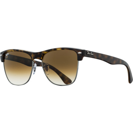 Camp and Hike Ray-Ban's RB4175 Sunglasses update the iconic Clubmaster frame with a larger contemporary design and fresh color options that range from classic to couture. - $144.95