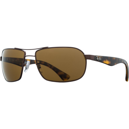 Camp and Hike The Ray-Ban RB3492 Polarized Sunglasses put a modern spin on classic aviator styling, with the added benefit of glare-blocking polarized lenses. The RB3492's versatile, refined look fits just about any occasion, whether you're on your way to a business lunch or headed to the coast for a weekend getaway. - $194.95