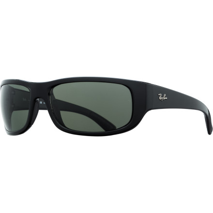 Camp and Hike The Ray-Ban RB4176 Polarized Sunglasses offer an active-friendly fit and next-level optical protection thanks to a deep wraparound shape, glare-gobbling polarization, and hydrophilic nose and temple pads that become extra tacky when exposed to moisture. - $178.95