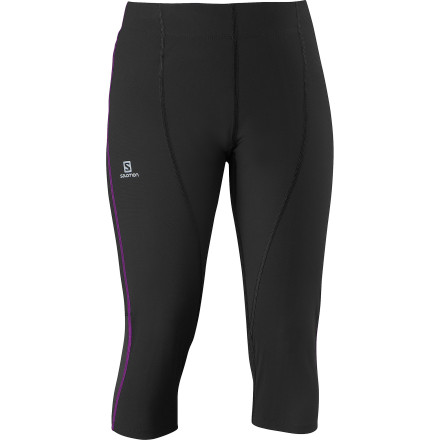 Fitness Take to the hills in the Salomon Women's Endurance 3/4 Tight. Whether you're going for a quick one or are testing your limits with a distance run, this stretchy, supportive tight gets you through your workout in comfort, and with all you need tucked into the handy pockets at the back. - $74.95