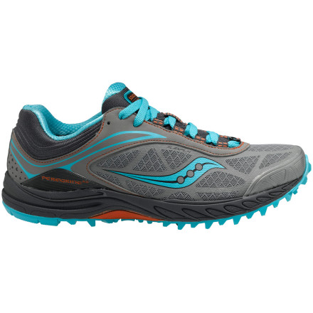 Fitness Take flight on the trails in the updated Saucony Women's ProGrid Peregrine 3 Trail Running Shoe. This barely-there runner weighs less than nine ounces, but packs plenty of support and protection for the roughest terrain. Minimalist uppers cut bulk and weight to save you energy on each stride; Saucony redesigned them to keep the weight low while offering greater protection from trail hazards. Saucony offers several other neutral trail runners, but the two that most closely compare to the Peregrine are the Xodus 3.0 and Kinavara TR. Both of these shoes offer the same 4mm offset (heel-toe-drop) and aggressive trail design, but the more-flexible Kinavara is a few ounces lighter than the Peregrine while the burlier Xodus a few ounces heavier. Focus on the Peregrine 3 if you want a shoe that feels light when you're climbing, smooth when you're descending, and nimble when the trail throws anything else your way. - $109.95