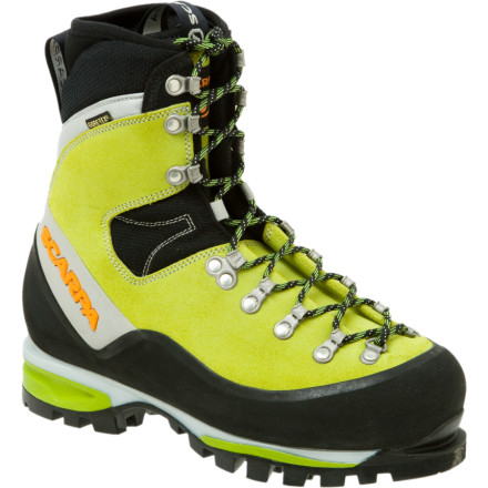 Climbing Female winter warriors take note: the Scarpa Womens Mont Blanc GTX Mountaineering Boot enables sure-footed mountain meandering or burly peak bagging in a last fit for a queen. Thanks to classic mountaineering design and the protection of Gore-Tex waterproof breathable materials, this boot conquers all. Lace up the versatile Mont Blanc, and experience unmatched comfort while on your approach without sacrificing stability on steep terrain. - $448.95