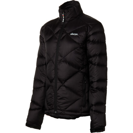 Stop borrowing your boyfriend's over-sized and duct-tape-patched down jacket and zip up the Sherpa Adventure Gear Women's Thyangboche Down Jacket. The lofty 750-fill goose down keeps you toasty warm in chilly weather while the diamond quilting and flattering fit lend a decidedly feminine look. - $133.00