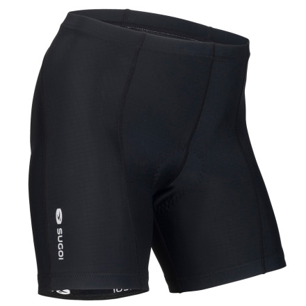 Fitness The Sugoi Evolution Shorty Short has all the support you need for long rides (women-specific RC Pro chamois and EvoPlus fabric) with a short six-inch inseam for hot days. - $45.00