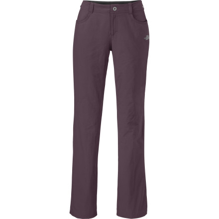 Camp and Hike The North Face packed trail-worthy performance into the notably street-savvy Women's Taggart Pant. Its deceptively soft, supple nylon fabric wears tough on the trail and dries quickly for comfort, while the slim bootcut style fits right in when you emerge from the wilderness and return to civilization. - $74.95