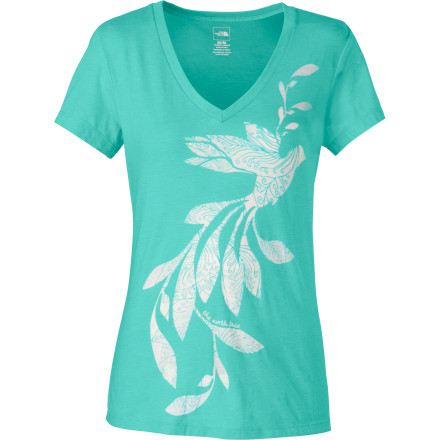 The North Face Janalee V-Neck Burn Out Women's Short-Sleeve T-Shirt - $29.95