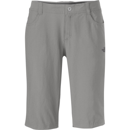 Camp and Hike Style pursits may tag The North Face Women's Taggart Long Short as a 'Bermuda short' but you may find that 'Pacific Crest short' or 'Long Trail short' more appropriate, given its affinity for the trail. Incredibly soft, supple, and lightweight, it still stands up to the rigors of a multi-day trek and looks great in town between trips, too. - $64.95